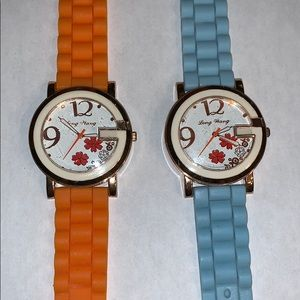 Lot of 2 girls watches blue and orange @A8
